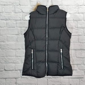 YMI | Puffer Vest with Faux Fur Lined Hood